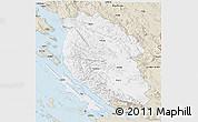 Classic Style 3D Map of Lika-Senj