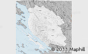 Gray 3D Map of Lika-Senj