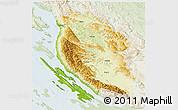 Physical 3D Map of Lika-Senj, lighten