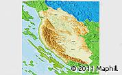 Physical 3D Map of Lika-Senj, political outside