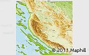 Physical 3D Map of Lika-Senj