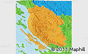 Political 3D Map of Lika-Senj