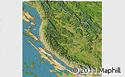 Satellite 3D Map of Lika-Senj