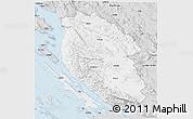 Silver Style 3D Map of Lika-Senj