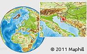 Physical Location Map of Lika-Senj