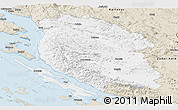 Classic Style Panoramic Map of Lika-Senj