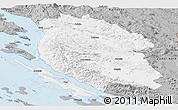 Gray Panoramic Map of Lika-Senj