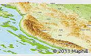 Physical Panoramic Map of Lika-Senj
