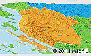 Political Panoramic Map of Lika-Senj