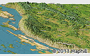 Satellite Panoramic Map of Lika-Senj