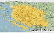 Savanna Style Panoramic Map of Lika-Senj