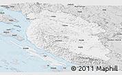 Silver Style Panoramic Map of Lika-Senj