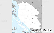 Gray Simple Map of Lika-Senj