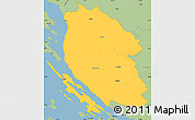 Savanna Style Simple Map of Lika-Senj
