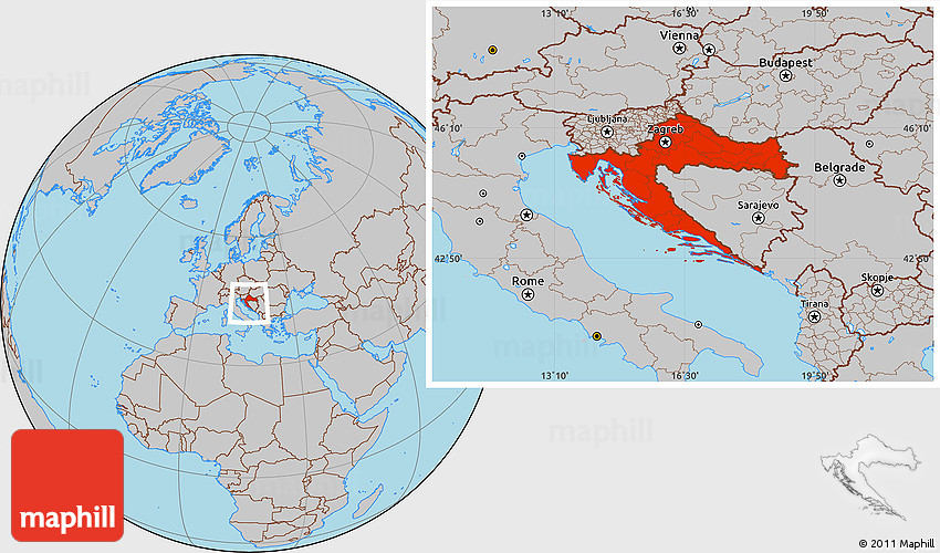 Gray location map of croatia gumiabroncs Images
