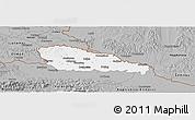 Gray Panoramic Map of Medimurje