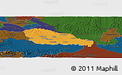 Political Panoramic Map of Medimurje, darken