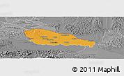 Political Panoramic Map of Medimurje, desaturated