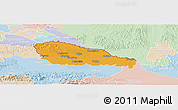 Political Panoramic Map of Medimurje, lighten
