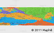 Political Panoramic Map of Medimurje