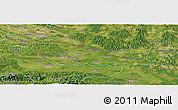 Satellite Panoramic Map of Medimurje
