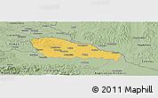 Savanna Style Panoramic Map of Medimurje