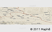 Shaded Relief Panoramic Map of Medimurje