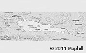 Silver Style Panoramic Map of Medimurje