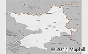 Gray 3D Map of Osijek-Baranja