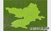 Physical 3D Map of Osijek-Baranja, darken