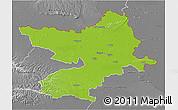 Physical 3D Map of Osijek-Baranja, desaturated