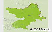 Physical 3D Map of Osijek-Baranja, lighten
