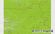 Physical 3D Map of Osijek-Baranja