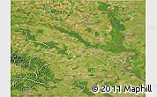 Satellite 3D Map of Osijek-Baranja