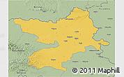 Savanna Style 3D Map of Osijek-Baranja