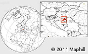 Blank Location Map of Osijek-Baranja