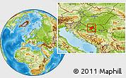 Physical Location Map of Osijek-Baranja