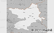 Gray Map of Osijek-Baranja
