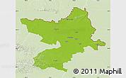 Physical Map of Osijek-Baranja, lighten