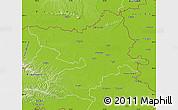 Physical Map of Osijek-Baranja
