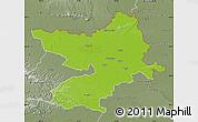 Physical Map of Osijek-Baranja, semi-desaturated