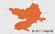 Political Map of Osijek-Baranja, cropped outside