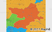 Political Map of Osijek-Baranja