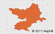 Political Map of Osijek-Baranja, single color outside