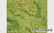 Satellite Map of Osijek-Baranja