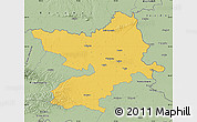 Savanna Style Map of Osijek-Baranja