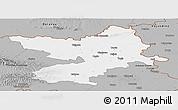 Gray Panoramic Map of Osijek-Baranja