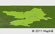 Physical Panoramic Map of Osijek-Baranja, darken