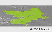 Physical Panoramic Map of Osijek-Baranja, desaturated
