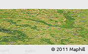 Satellite Panoramic Map of Osijek-Baranja